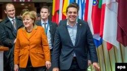 Merkel sa Ciprasom na samitu u Briselu 8. marta 2016.