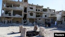 باقیماندههایی از شهر درعا در سوریه
