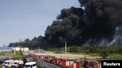 Пожежа на нафтобазі під Києвом, 9 червня 2015 року