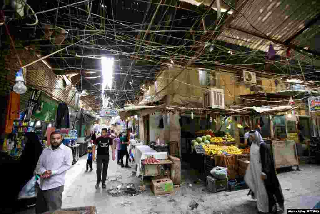 A market in Karbala.