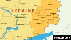 Донецкая и Луганская области на карте Украины.