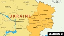 Украина картасы. (Көрнекі сурет).