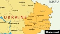 منطقه لوهانسک در شرق اوکراین