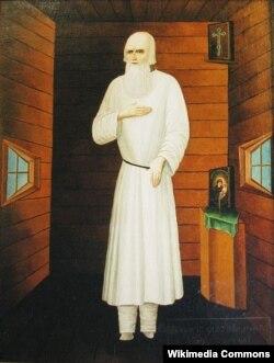Старец Федор Кузьмич, в которого будто бы обратился Александр I, инсценировав свою смерть в Таганроге. Неизвестный художник. Конец XIX века