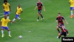 Матч сборных Германии и Бразилии в полуфинале чемпионата мира по футболу, 8 июля 2014 года.