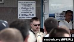 Анатоль Шумчанка на сходзе прадпрымальнікаў ждановіцкага рынку