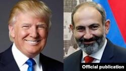 Президент США Дональд Трамп, премьер-министр Армении Никол Пашинян