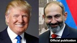 Donald Trump (solda) və Nikol Pashinian