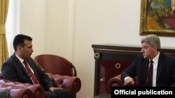 Претседателот Ѓорге Иванов и премиерот Зоран Заев, Скопје, 13.06.2018.