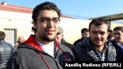 NIDA activists Uzeyir Mahammad-oglu Mammadli (left) and Zaur Araz-oglu Gurbanli