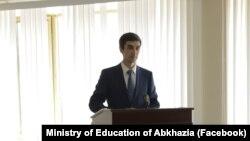 Министр просвещения и языковой политики Абхазии Инал Габлия