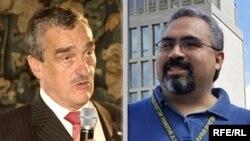 کارل شوارزنبرگ، وزير امور خارجه جمهوری چک (چپ) و گونزو گاليگوس، سخنگوی وزارت امور خارجه آمريکا (راست) هر دو از وزیر دفاع اتریش انتقاد کردند.