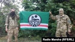 """Чеченский миротворческий батальон имени Шейха Мансура"" в районе Широкина"