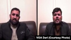 موسی محمودی رئیس جامعه مدنی لوگر و همکارش احسان حمیدی