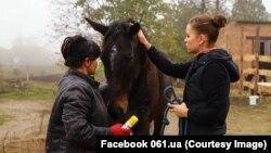 Марина Панюшкина і Аліса Журик, які вивезли табун коней із зони бойових дій