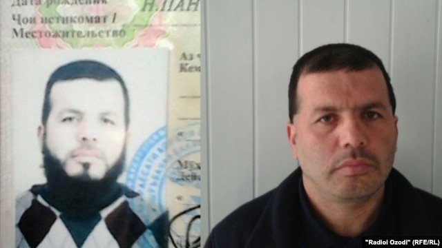 """Lutfullo Bobobekov, who was made to shave off his """"overly long and unkempt"""" beard by Khatlon police."""