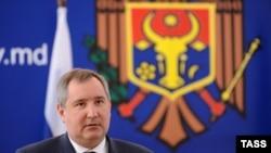 Dmitri Rogozin la Chişinău, 16 aprilie 2012.