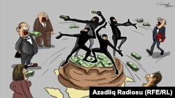 Bakıdan əcnəbiləri susdurma əməliyyatı. Karikatura