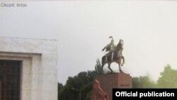 Проект памятника Манасу в центре Бишкека