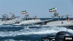 File photo - IRGC speed boats in Persian Gulf