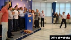 Архивска фотографија - Прес конференција на Зоран Заев, претседател на СДСМ на која тој објави прислушувани разговори. Скопје, 16.06.2015
