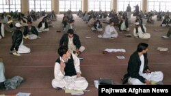 File photo of Kandahar university students.