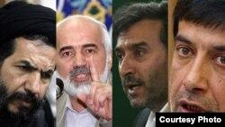 محمد رضا باهنر(راست)، محمد دهقانی، احمد توکلی و محمد حسن ابوترابیفرد
