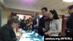 Казакстандагы шайлоо жараяны. 26-апрель, 2015-жыл.