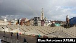 За пять минут до отплытия. Радуга над Антверпеном. Кто мог подумать, что последует дальше!