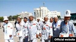 Кыргызстанские паломники в Саудовской Аравии. Иллюстративное фото.