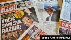 Shtypi serb për fitoren e Vuçiqit