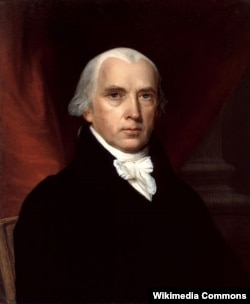 Джеймс Мэдисон. Художник Джон Вандерлин. 1816