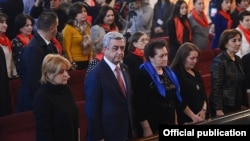 Armenia - President Serzh Sarkisian attends a conference in Yerevan held by the women's wing of the ruling Republican Party of Armenia, 5Nov2016.