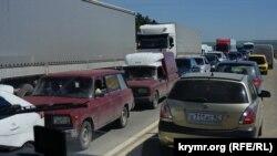 Участок трассы «Таврида» в Крыму. Май 2018 года
