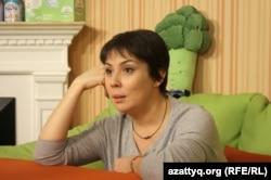 Аружан Саин, телеведущая и руководитель благотворительного фонда «ДОМ» . Алматы, 27 октября 2016 года.