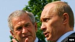 Buş və Putin «Böyük Səkkizliyin» sammiti çərçivəsində görüşüblər