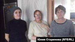 Жительницы Каменки: Наталья Солдатенко, Наталья Фадеева и Маргарита Клепикова