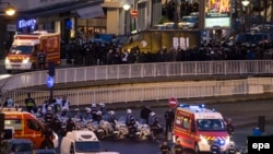 На месте полицейской операции на востоке Парижа.