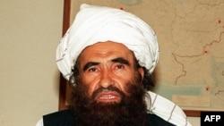 Founder of the Haqqani network, Jalaluddin Haqqani, in a 2001 photo
