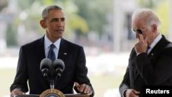 Президент США Барак Обама и вице-президент Джозеф Байден