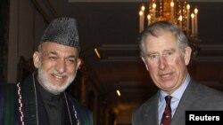 Авганистанскиот претседател Хамид Карзаи со британскиот принц Чарлс