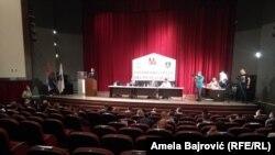 Sednica pazarskog parlamenta održana je u lokalnoj bioskopskoj sali zbog epidemiološke situacije
