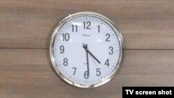 Moldova - clock, Tiraspol, September 24, 2013.