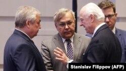 ՄԱԿ-ի հատուկ բանագնաց Ստաֆան դե Միստուրան գործընկերների հետ քննարկում է Սիրիայի հարցը, Աստանա, 15-ը մայիսի, 2018թ.