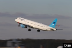 ای۳۲۱ «متروجت» در این تصویر در حال بلند شدن از باند فرودگاه بینالمللی مسکو