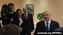 Belarus - Presidential elections, Alexander Lukashenko, voting. Minsk, 11Oct2015