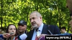 Председатель Меджлиса крымских татар Рефат Чубаров 10 мая 2015 года