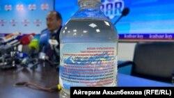 Бутылка с отваром иссык-кульского корня. Бишкек. 16 апреля 2021 года.
