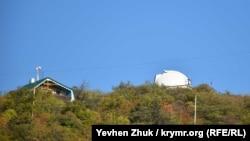 Под куполом прячется телескоп