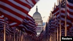 «Поле флагов» перед Капитолием